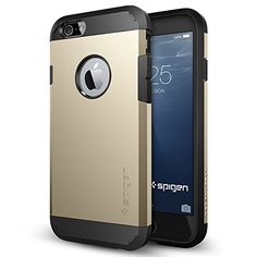 iPhone 6 Case, Spigen Tough Armor Case for iPhone 6 (4.7-Inch) – Retail Packaging –  Champagne Gold (SGP10970)