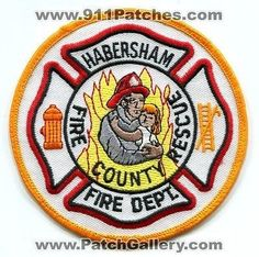 Habersham County Fire Rescue Department Dept EMS Carrying Child Patch Georgia GA