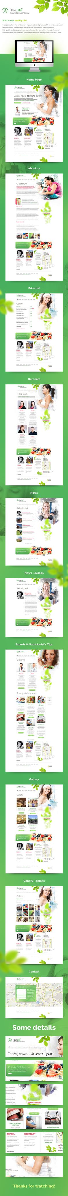 New Life - Health and Fitness Center by Michal Straczek, via Behance