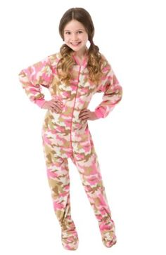 online shopping for Big Feet Pajama Co. Big Feet Pjs Big Girls Pink Camo Kids Footed Pajamas Onesie Sleeper from top store. See new offer for Big Feet Pajama Co. Onesie Pajamas, Fleece Pajamas, Camo Kids, Pink Camouflage, Girls Pajamas, Stylish Kids, Pink Girl, Pajama Set, Lounge Wear