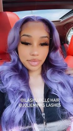 Purple Hair Black Girl, Pretty Black Girls, Black Girls Hairstyles, Cute Hairstyles, Cuddle Quotes, Barbie Halloween Costume, Celtic Braid, Colour Wheel, Dark Skin Makeup