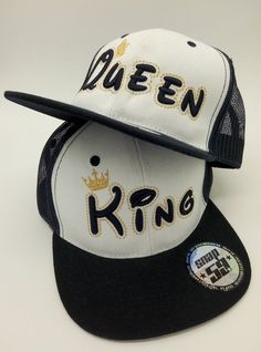 KING QUEEN caps for young lovers friends. High quality materials 787554a10ca6