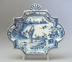 Delft - Plaque En Faïence - XVIIIe Siècle, Bils Ceramiques, Proantic