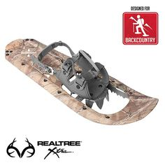 REALTREE Xtra® Camo Molded series:  Durable molded polypropylene frame construction and aggressive crampon system to withstand the rigors of any outdoor adventures  Our exclusive new REALTREE Xtra® Camo Molded series use the latest in durable polypropylene molding technology to produce a snowshoe that is both lightweight and flexible. Built-in lateral traction rails and fully rotating front crampons. A true necessity for any outdoor sportsman.