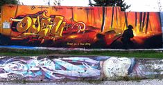Graffiti Mural Tribute To All Firemen Died In Action Odeith Damaia Portugal