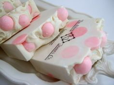 Innocence Gourmet Soap by AbbeyJames on Etsy, $6.75  Just needs some Hello Kitty on top...lol