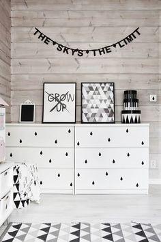 Boho Deco Chic: Dale vida a una cómoda Malm de Ikea con vinilo