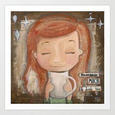 Drink Tea & Hope Much Art Print by Kate @ KMericks - $20.00
