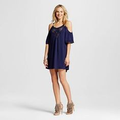 Women's Cold Shoulder Women's Shift Dress - Xhilaration™ (Juniors')