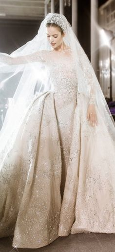 So sparkly and beautiful! Winter Wedding At Bel Air Country Club ~ Zuhair Murad