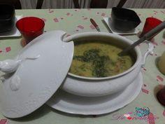 Sopa de ervilha  - inaugurando a sopeira