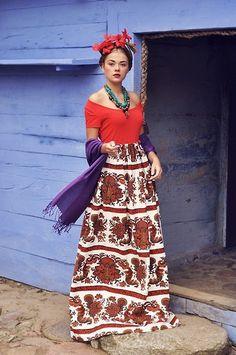 Like a Frida Khalo (by Anna Adamska) http://lookbook.nu/look/3924824-Like-a-Frida-Khalo