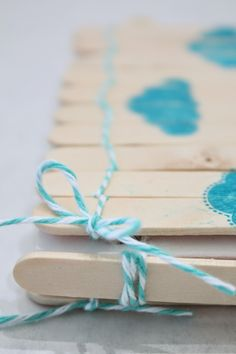In My Blue Room: Popsicle Stick Notebook with The Twinery and Poppy Stamp