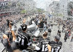 Victory parade through L.A. LIVE after the LA Kings win the Stanley Cup, June 2012
