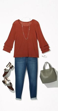 Stylish Plus-Size Fashion Ideas – Designer Fashion Tips Look Plus Size, Plus Size Jeans, Mode Outfits, Fashion Outfits, Womens Fashion, Fashion Shoes, Workwear Fashion, Curvy Fashion, Fashion Fashion