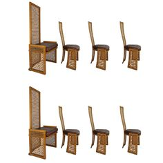 $3600 Set of 8 Dining Chairs with French-Caning: Vivai Del Sud for Casa Bella 1980s   Antiques, Furniture, Chairs   eBay!