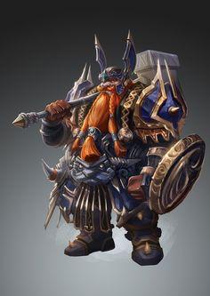 ArtStation - Dwarf warrior, liv sinno