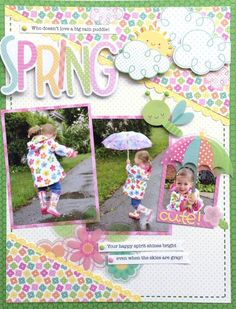 Cute Spring layout!