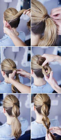 Relasé: Acconciatura per i capelli lunghi - coda di cavallo in versione chic!