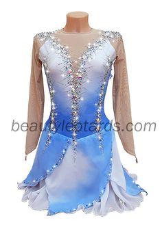 Figure Skating Competition Dresses, Figure Skating Outfits, Figure Skating Costumes, Ice Dance Dresses, Ice Skating Dresses, Elegant Dresses, Nice Dresses, Custom Leotards, Anna Dress