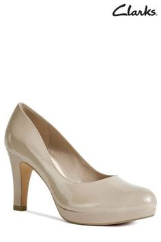 1a879bbb4c2a Clarks Crisp Kendra Nude Patent Courts £57 - as these have a platform the  heel