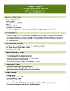 sample resume format for fresh graduates two page format 11 cover letter - Format Cover Letter For Resume