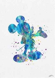 watercolor disney, watercolor art, mickey mouse silhouette, mickey m Mickey Mouse Silhouette, Mickey Mouse Art, Mickey Mouse Wallpaper, Wallpaper Iphone Disney, Disney Pixar, Arte Disney, Disney Art, Disney Colors, Disney Love