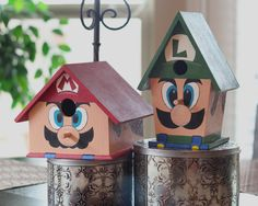 Don't know about birdhouses in the house, but hey -they're awesome!