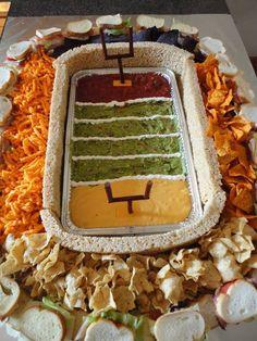 Super Bowl snack dish! Very creative!