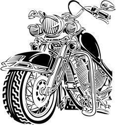 Motorcycle Tattoos, Motorcycle Art, Bike Art, Silhouette Art, Silhouette Cameo Projects, Harley Davidson Decals, Car Drawings, Pyrography, Silhouettes