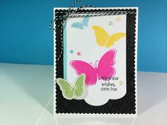 Birthday card using stamps and dies from Catherine Pooler Designs. I fussy cut the green butterfly using the Brother scan N cut.