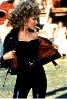 Olivia Newton-John as Sandy in Grease. I can't get over those pants. It looks like she was poured into them. Wowza!