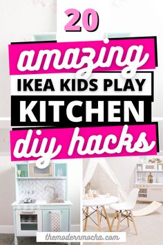 Check out these DIY IKEA Duktig Hacks! This will make the perfect Ikea makeover hack for your kid's toy play kitchen at home! You can also check out how to add on a toy fridge! Read more for the best IKEA hacks and ideas here! #ikea #ikeahacks #kidstoys #duktig #ikeakids Ikea Play Kitchen, Toy Kitchen, Kitchen Hacks, Hacks Diy, Ikea Hacks, Ikea Dresser Hack, Ikea Makeover, Ikea Kids, Best Ikea