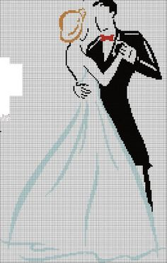 wedding couple cross stitch
