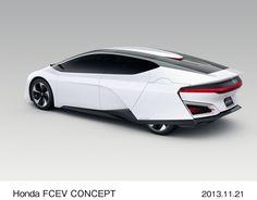 ホンダが20日、2013年ロサンゼルスオートショーで公開した新型の燃料電池電気自動車(FCEV)「Honda FCEV CONCEPT」(写真提供:ホンダ)