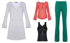 Vestidos, calças e blusas da coleção da marca Iódice, de Waldemar Iódice, para a fast fashion C&A.