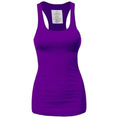 FPT Womens Basic Ribbed Racerback Tank Top (S-3XL) ($7.99) ❤ liked on Polyvore featuring tops, shirts, tanks, ribbed tank top, racer back tank, racerback tops, ribbed shirt and purple top