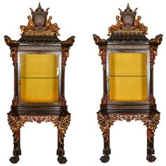 Pair of French Chinoiserie Cabinets   From a unique collection of antique and modern cabinets at https://www.1stdibs.com/furniture/storage-case-pieces/cabinets/