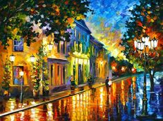 Morning - oil painting by Leonid Afremov