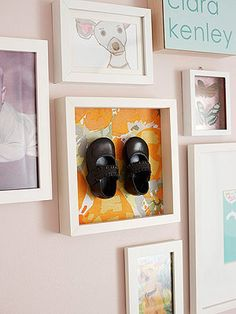 DIY Nursery Décor from Young House Love: A Modern Take on Bronzed Baby Shoes (via Parents.com)