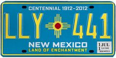 This is the official license plate for the state of New Mexico as it has been officially adopted by the state legislature. Also known as a vehicle registration plate, it is used to identify the car and owner of a motor vehicle or trailer in the state.