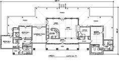 Texas Ranch Floor Plans Ranch Style House Plan   Sq Ft Plan