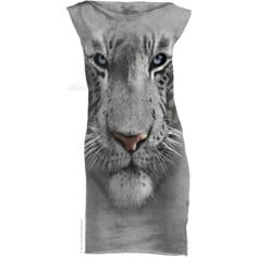 The Mountain White Tiger Face Mint Dress Mint Dress, White Mini Dress, Zoo Animals, Animals And Pets, Tiger Face, 3d T Shirts, Mini Shirt Dress, Animal Faces, Lady