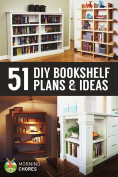 51 DIY Bookshelf Plans & Ideas to Organize Your Precious Books