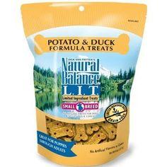 Natural Balance LIT Limited Ingredient Small Breed Dog Treats 8 oz 1 18 Length Potato  Duck GrainFree Limited Ingredient Diets Natural pack of 2 * Visit the image link more details.