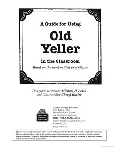 Worksheet Old Yeller Worksheets 5th grades fifth grade and old yeller on pinterest a guide for using in the classroom