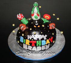 Mario, Galaxy, Yoshi cake