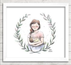 Joy Hwang uses her drawing talents to turn breastfeeding into an art form … literally. Baby Illustration, Illustrations, Breastfeeding Art, Breastfeeding Positions, Breastfeeding Problems, Mother Art, Baby Drawing, I Love My Son, Angel Pictures