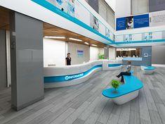 Crown Prince Of Dubai- Creative Literature on Behance Healthcare Architecture, Hospital Architecture, Healthcare Design, Hospital Reception, Hospital Signage, Bank Interior Design, Modern Hospital, Medical Office Design, Lobby Interior