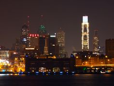 Philadelphia from Camden NJ 3.17.13 4AM